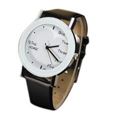 Relojes Mujer PU Leather Watch Unisex Fashion Casual Quartz Watches Popular Students Wrist Watch Relogio Feminino (Intl)