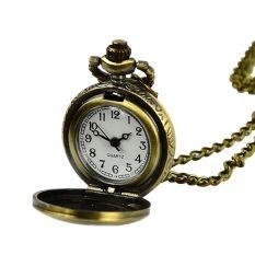 Retro Vintage Style Bronze Steampunk Quartz Necklace Pendant Chain Clock Pocket Watch Chinese Zodiac Bronze (Intl)