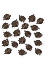 RIS Set Of 20 Bronze Tone Ethnic Charm Necklace Bracelet Pendant