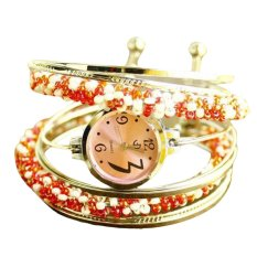 Rondaful Unique wound bead bracelet watch Lady fashion
