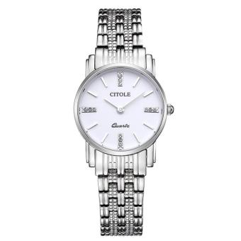 Rooroom Counter Genuine Diamond Ladies Watch Thin Strip West Teng Simple Quartz Watch Business Watch Waterproof S5061