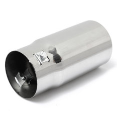 Round Universal Car Stainless Steel Exhaust Tail Pipe Tone Tip Muffler Chrome - Intl