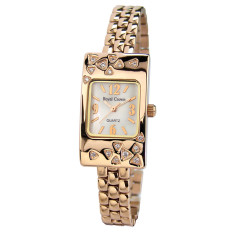 Royal Crown Jam Tangan Wanita - Rosegold - Strap Stainless Steel - 3812SR