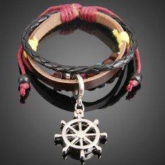 VAKIND Rudder Pendant Girl Boy Braid Bracelet Unisex String Band Bangle (Intl)