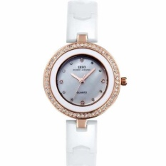 ruixiang IBSO The Small Dial Ceramic Watches Diamond Watch FashionJoker Ladies For Lady Lover Watches High-Grade Watch (White) - intl