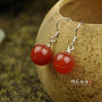 ... wanita elegan anting giwang berlian imitasi batu besar -. Source · S925 anting-anting kristal alami batu akik merah anting