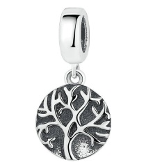 S925 Sterling Silver The Tree Of Life And The Tree Of Life Pendant Magic Gods Bracelet Silver Beads Pendant SCC037