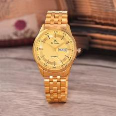 Saint Costie Original Brand, Jam Tangan Wanita - Body Gold - Gold Dial - Stainless Stell Band - SC-RT-8017L-TH-GG-GOLD (Gold)