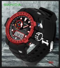 SANDA 2016 New Fashion Brand Digital-watch G Style Outdoor Sports Shock Military Digital Watch Men Quart Wrist Watches For Men 399 (Red) [Buy 1 Get 1 Freebie]