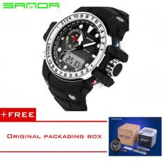 SANDA 2016 New Fashion Brand Digital-watch G Style Outdoor Sports Shock Military Digital Watch Men Quart Wrist Watches For Men 399 (Sliver) [Buy 1 Get 1 Freebie]