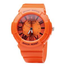 SANDA Quartz Watch Men Women Watches 2016 Top Brand Luxury Famous Wristwatch Male Female Clock Wrist Watch Ladies Quartz-watch (Orange)