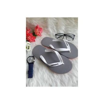 Sandal Sendal Jepit Pria Cowo Abu Grey Pantai Mimoys Mirip Adidas Nike