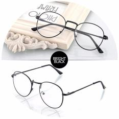 Santorini Kacamata Wanita Harry Potter Fashion Vintage Eyewear Metal Frame Women Lady Eye Wear - Black