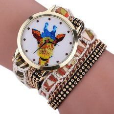 Sanwood Women's Giraffe Multi-layers Mini Beads Bracelet Wrist Watch Type 6