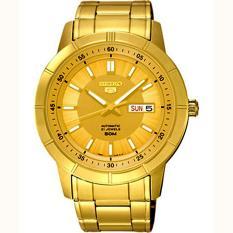 SEIKO 5 Automatic - Jam Tangan Pria - Gold - Stainless Steel - 26NKNS