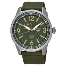Seiko 5 Automatic Jam Tangan - Starp Nylon - Green Military - SSA299K1