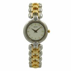 Seiko Jam Tangan Wanita - Silver Gold Ivory - Stainless Steel - SXNN55