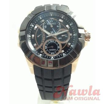Seiko Lord SRL074P1 Chronograph Rose Gold Case | Jam Pria SRL074