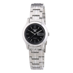 Seiko Watch 5 Automatic Silver Stainless-Steel Case Stainless-Steel Bracelet Ladies NWT + Warranty SYMD99K1