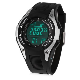 SH SUNROAD FX702A Multifunctional Digital Sports Watch Altimeter Fishing Barometer Wristwatch 30M Water Resistance Black Black - intl