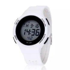 SHHORS Men Sports Military Watch Women LED Digital Multifunctional 33M Waterproof Student Watch White (Intl)
