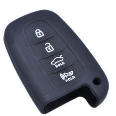 Silicone Remote Key Case Cover Holder Bag For Beijing Hyundai 4 Buttons Old Ix35 Elantra Sonata