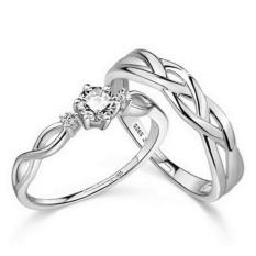 Silver Adjustable Couple Rings Jewelry Affectionate Lovers Rings E028