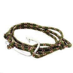 Silver / Gold Plated Hook-Fish Hook Bracelet, Paracord Rope Fish Hook Bracelet, Wrap Hook Bracelet (Intl)