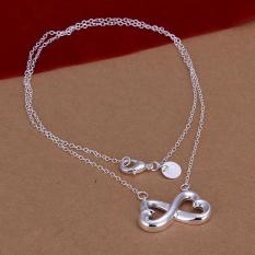 Silver Plated Pendant Necklaces For Women Silver Plated Chain Jewelry N148 High Quality Collier Elegant - Intl