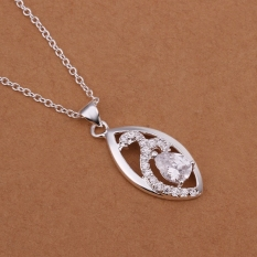Silver Plated Pendant Necklaces For Women Silver Plated Chain Jewelry N325 Luxurious Trendy Nickle Free - Intl
