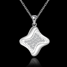 Silver Plated Pendant Necklaces For Women Silver Plated Chain Jewelry N625 Female Monile Super Offer - Intl