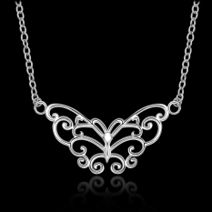Silver Plated Pendant Necklaces For Women Silver Plated Chain Jewelry N646 Anniversary For Girlfriend Factory Price - Intl