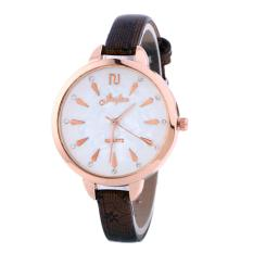 Simple Fashion Diamond Lady Quartz Watch Casual Shell Surface Thin Striped Quartz Unisex Fashion Watch - intl