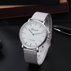 Simple Style Mental Strap Unisex Watch - intl