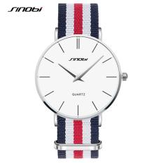 SINOBI 2016 New Brand Watches Classic Wrist Watch Men's Quartz Watch Designer Males Fashion Wristband Clock NB-003(blue Red) [Buy 1 Get 1 Freebie]