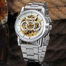 Skeleton Winner Automatic Mechanical Watch Men Mechanical Watches(Silver) - intl
