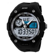 Skmei 101.50M Waterproof Men LED Digital Military Dive Swim Dress Sports Watches Fashion Outdoor Men Wristwatches (White)