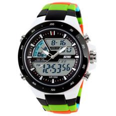 SKMEI 1016 Silicone Waterproof Men Sport LED Wrist Watch