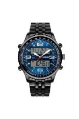 SKMEI 1032 Multifunction Waterproof Men's Boys Dual Time Display LED Digital Quartz Sports Watch with Stopwatch / Date / Alarm / EL Backlight Blue