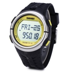 Skmei 1058 Fashion Mens Womens Heart Rate Water Resistance Sports LED Watch (Intl)