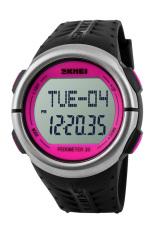 SKMEI 1058 Heart Rate Monitor Pedometer Sport Watch (Pink)