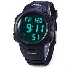 Skmei 1068 Military Army LED Watch Water Resistant Black (Intl)