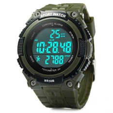 Skmei 1112 Multifunctional 3D Pedometer Male Wristwatch With PU Band - Intl