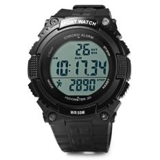 Skmei 1112 Multifunctional 3D Pedometer Male Wristwatch Black (Intl)
