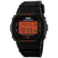 Skmei 1134 Brand Watches Men LED Digital Watch Fashion Outdoor Sport Wristwatch (Orange)