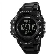 SKMEI 1180 Pedometer Heart Multifunctional Rate Monitor Sports Watch (Black)