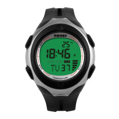 SKMEI Brand Outdoor Sports Watches Unisex Multifunction Temperature Digital Watch Black Green (Intl)
