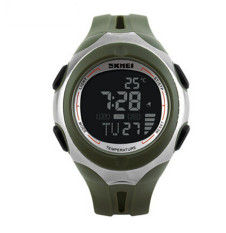 SKMEI Brand Outdoor Sports Watches Unisex Multifunction Temperature Digital Watch Green (Intl)