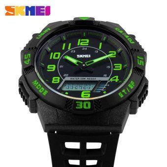 SKMEI Casio Men Sport LED Watch Water Resistant 50m - AD1065 - (Green)