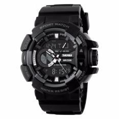 SKMEI Casio Men Sport LED Watch Water Resistant 50m Jam Tangan Casio Sport Pria - AD1117 - Hitam Abu Hitam Merah Hitam Biru